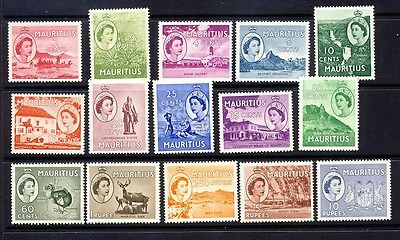 Mauritius Scott 251-65 mlh-h complete includes a Dodo stamp.  Nh cat is 45-