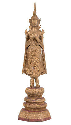 Thailand 20. Jh. -A Thai Bronze Figure of Buddha in Rattanakosin style - Bouddha