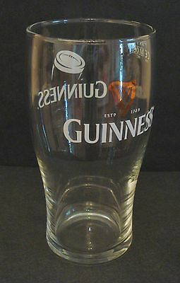 Guinness Rugby Beer Pint Glass Pub Home Bar Unused