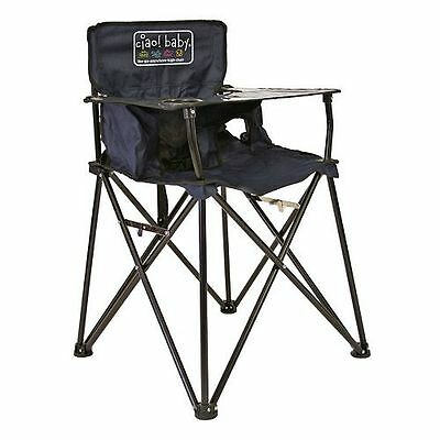 New Ciao Baby Portable High Chair Foldable Travel Navy