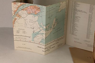 Map Province of Quebec Canada  Department of Mines 1958 Geological Area Maps