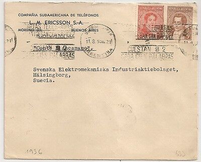 Cover Argentine Argentina Buenos Aires To Sweden. L633