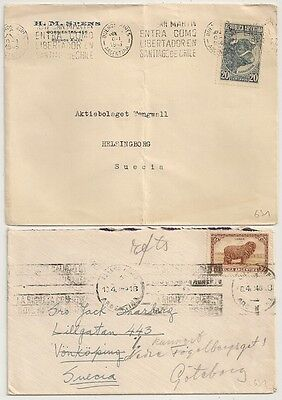 2 Covers Argentine Argentina Buenos Aires To Sweden. L631