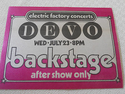 DEVO - Backstage pass after show only Tower Theater RARE!