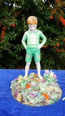 Crown Staffordshire TM Bayley Boy in Garden Figure.  1930's