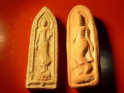 Thia Siam Buddha Temple Pendant Amulet Impressed Clay Tablets