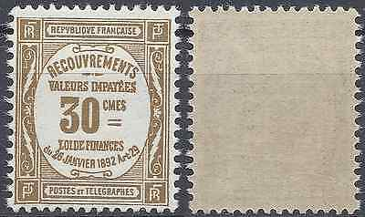 France Timbre Taxe N°46 Neuf ** Luxe Gomme D'origine Mnh
