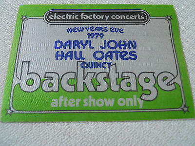 Hall & Oates 1979 New Years Eve - backstage pass after show - Tower Theater