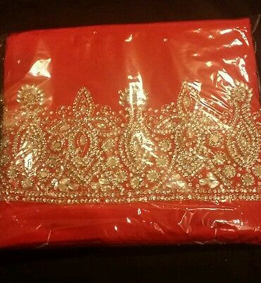 Indian red unstitched suit.. salwaar kameez