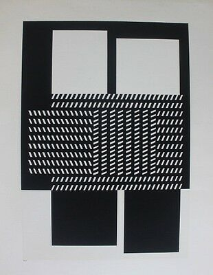 Ancienne Et Superbe Lithographie De Victor Vasarely Abstraction (4)
