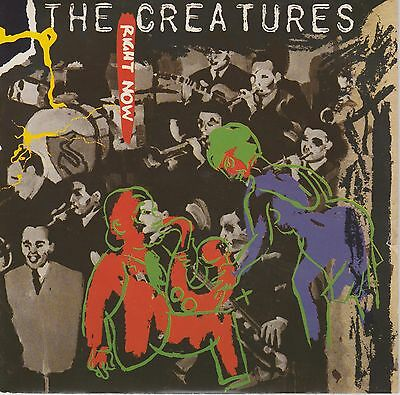 THE CREATURES Right Now/Weathercade 1983 7in PS SHE2 vg+/vg+