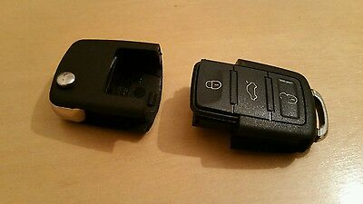 VW Key Fob 3 button empty replacement shell