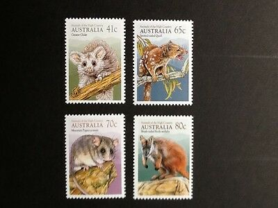 1990 Australia - High Country Animals - Set of 4 - SG 1233-1236. MNH.