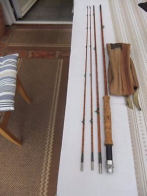 Vintage Hardy Built Cane Fly Rod - The Fairy - 9Ft With 2 Top Sections