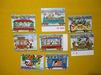 St. Vincent 1988 Disney Mickey Mouse Christmas train MNH Stams 47
