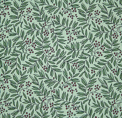 Liberty of London tana cotton lawn leaves & berries print fabric