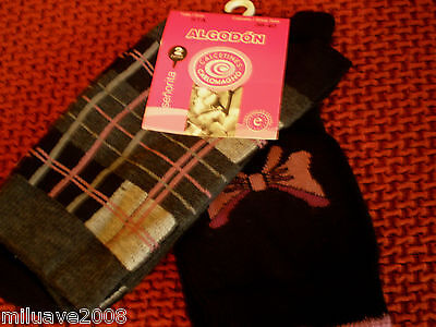 Calcetines Chaussettes Socks Mujer Femme Woman 2 Pares  T. U Surtido C