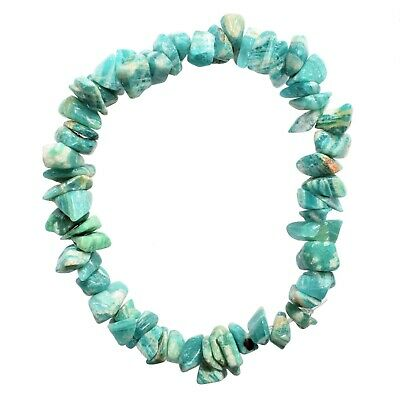 Premium CHARGED Amazonite Crystal Chip Stretchy Bracelet Healing REIKI Energy!