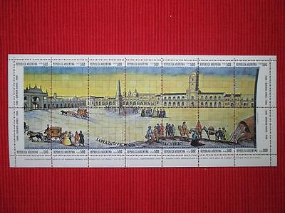 Argentina Buenos Aires 1980 stamps sheet MNH