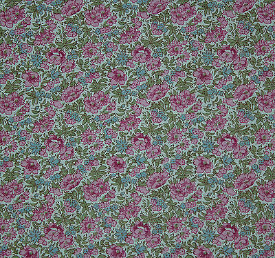 Liberty of London pink floral print Rosalind tana lawn cotton fabric