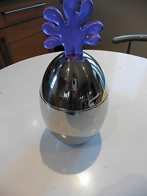 Alessi  Collectable Chrome And Resin Kitchen Container