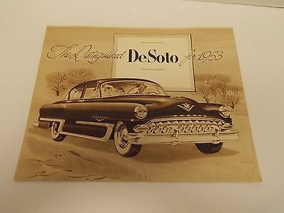 Vintage 1953 DeSoto Full Line Brochure/Catalog in Sepia