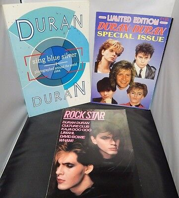 Duran Duran Lot Of 3 Magazines Sing Blue Silver - Rock Star - Limited Edition