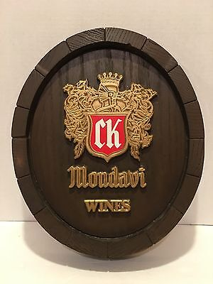 "Vintage Robert Mondavi Wines CK Barrel design 14"" x 12"" x 2"""