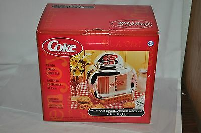 COCA COLA JUKE BOX COOKY  COOKIES CONTAINER JAR!! new old stock