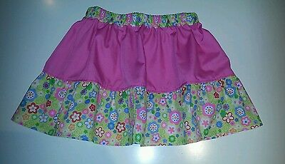 New girls pink & yellow flowers frilly skirt. Tutu. Unique Quirky Age 6-9