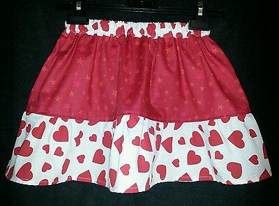 New Girls Funky Stars & Hearts Frilly Ra Ra Skirt. Kitsch. Cute Age 5-9