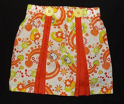 New Girls Hello Kitty Pleated Skirt. Unique, One Off. Cute.  Hello Kitty Age 2-3