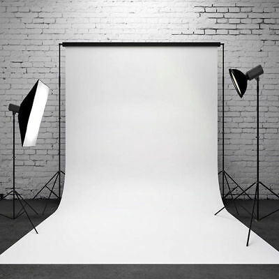 Pure color White background Thin vinyl Photography Studio props 5x7ft