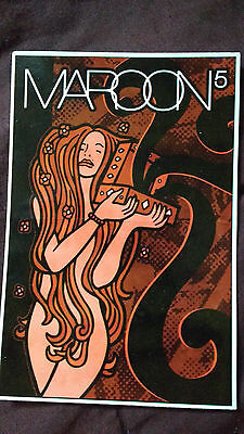 maroon 5 rare 2002 promo stickerpostcard for SONGS ABOUT JANE