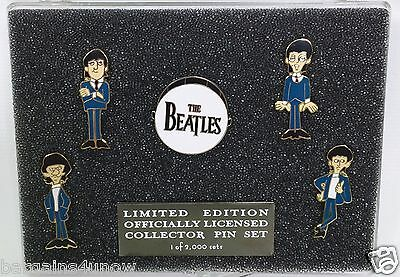 The Beatles Limited Edition Officially Licensed Collector Pin Set 1 Of 2000 New