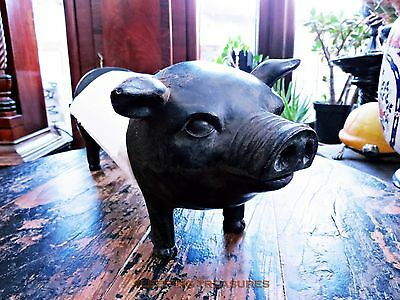 Charming Vintage Look, Extending, Pig Kitchen Roll Holder. Great Gift