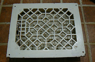 "Antique Cast Iron Steel Floor Registers Grate W/ Louvers 8"" X 10"""