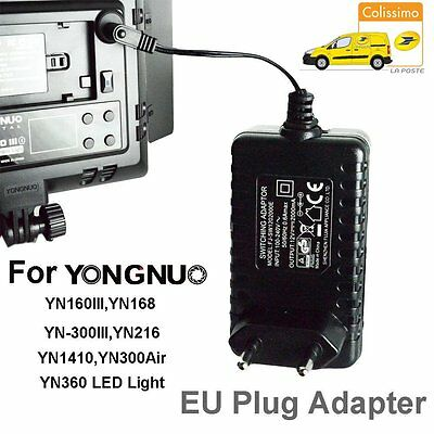 AC Adapter Power Supply Charger for Yongnuo LED Light YN168 YN360 YN300 Air FR