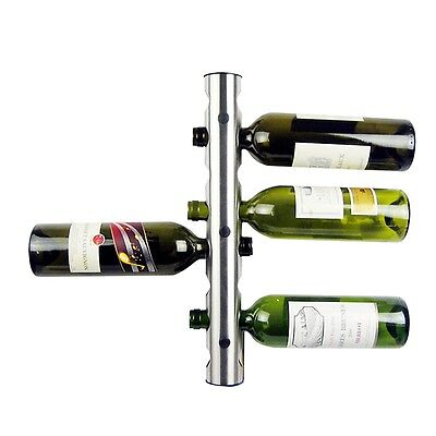 Stainless Steel Wall Mounted Wine Bottle Holder 8 Holes AAU