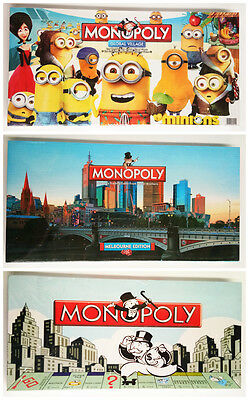 Classical Board Game Monopoly Melbourne Minion Complete Set Kids Christmas Gift