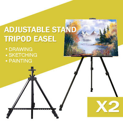 2X Art Adjustable Stand Feet Tripod Display Sketching Paint Drawing Easel