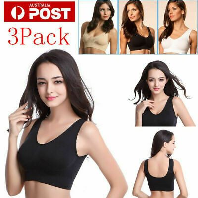 3 PCS Genie Seamless Bra Removable Pads S M L XL XXL XXXL Maternity Bra