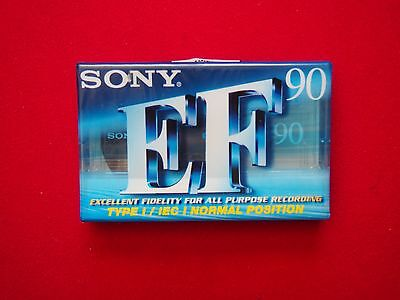 Blank Cassette Tape - Sony EF 90 - Normal Position - New & Sealed