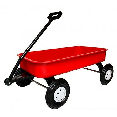 ZEDFX Pull Along Red Children's Kids Metal Wagon