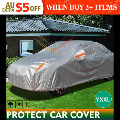 Double Thick Waterproof Car Cover Water Resistant Rain UV Dust Protection YXXL