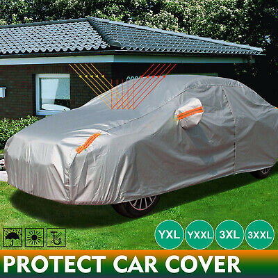 Double Thick Waterproof Car Cover Water Resistant Rain UV Dust Protection