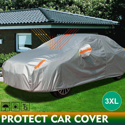 Double thicker waterproof car cover rain resistant UV dust protect 3XL