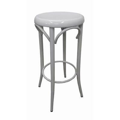 Replica Thonet Bentwood Metal Bar Stool Cafe Kitchen White Seat
