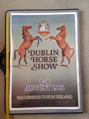 Royal Dublin Society Horse Show Poster 1981 Possibly Original ~ An 'Attic Find'