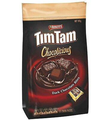 Timtam Chocolate Dark Bites 187g x 6